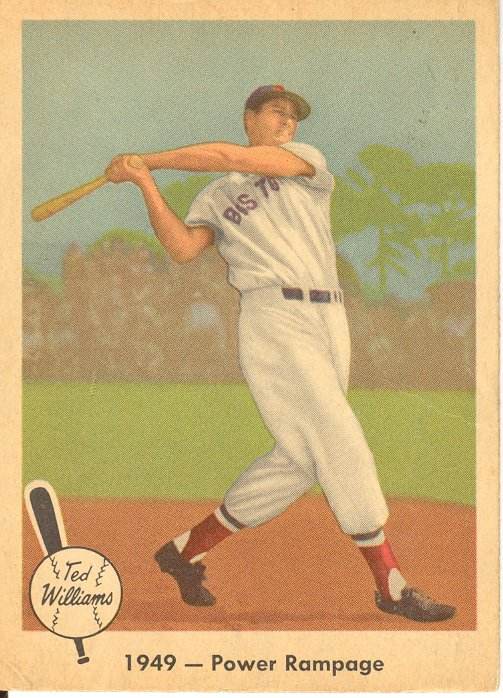 1959 Fleer Ted Williams #38 1949 Power Rampage