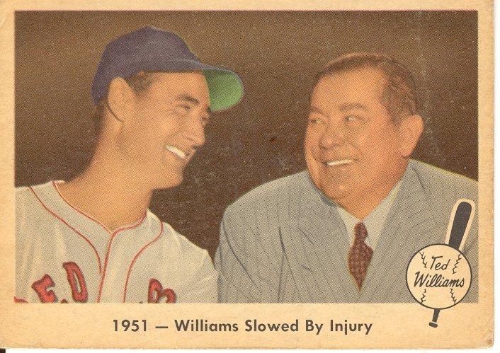 1959 Fleer Ted Williams #42 Williams/Tom Yawkey