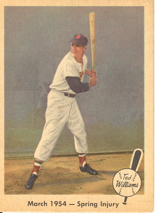 1959 Fleer Ted Williams #50 1954 Spring Injury