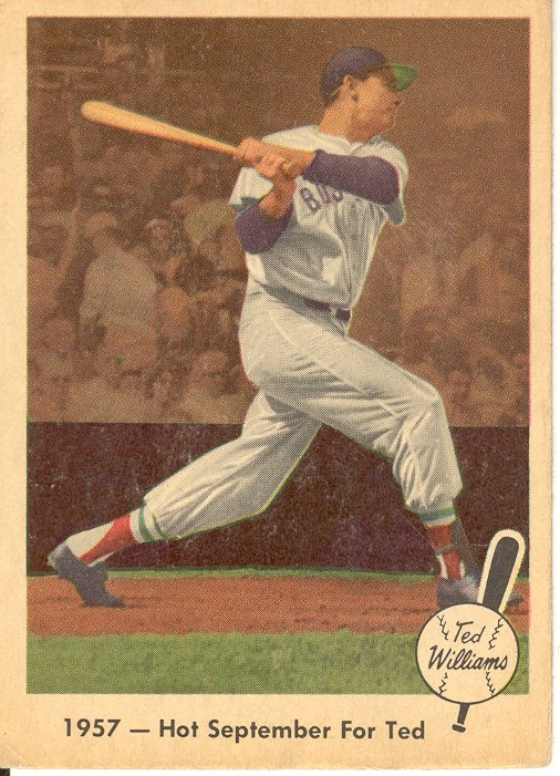 1959 Fleer Ted Williams #59 Hot September for Ted
