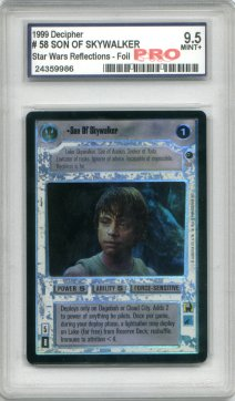 Star Wars Reflections Son of Skywalker Rare Holofoil - Graded Mint+ 9.5