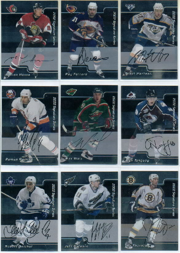 2001-02 BAP Signature Series Autographs #172 Jeff Halpern