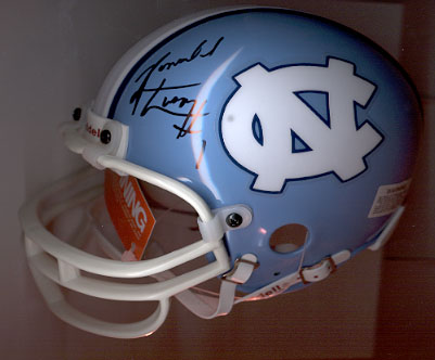 Ronald Curry autographed UNC mini-helmet