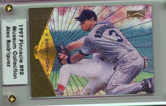 1997 Pinnacle Baseball Alex Rodriguez Museum Collection NICE!