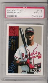 1994 Fleer Excel Baseball #149 Jermaine Dye Minor League ROOKIE PSA MINT 9 NICE!!