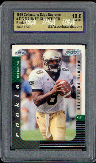 1999 Collector's Edge Supreme Draft Previews #DC Daunte Culpepper USA 10 Gem Mint
