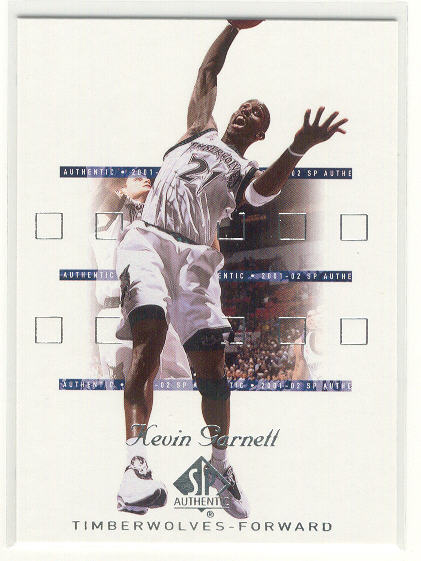 2001-02 SP Authentic #51 Kevin Garnett