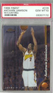 1998/99 Topps Finest #229 Antawn Jamison PSA GEM MINT 10 ROOKIE AWESOME!!