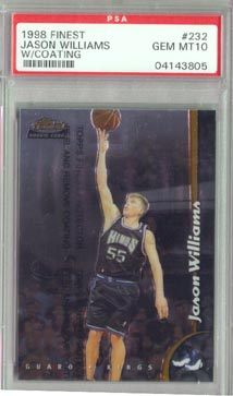 1998/99 Topps Finest Basketball #232 Jason Williams w/ coating PSA GEM MINT 10 ROOKIE AWESOME!