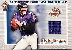 2002 Private Stock Game Worn Jerseys #13 Elvis Grbac