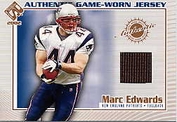 2002 Private Stock Game Worn Jerseys #77 Marc Edwards