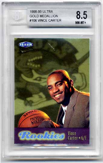 Vince Carter 1998-99 Ultra Gold Medallion BGS Grade 8.5