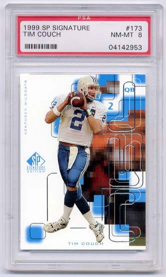 1999 SP Signature Tim Couch #173 RC PSA 8 NM-MT