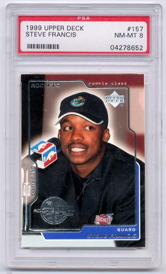 1999 Upper Deck #157 Steve Francis RC PSA 8 NM-MT
