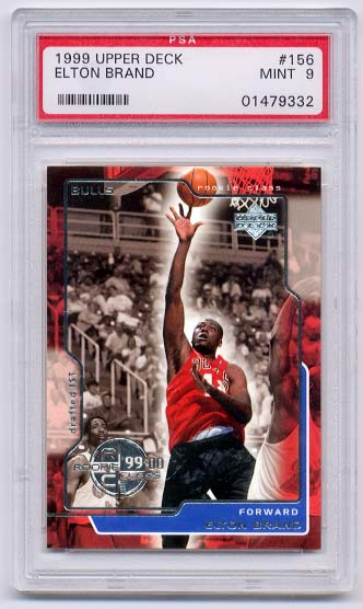 1999-00 Upper Deck #156 Elton Brand RC PSA 9 Mint