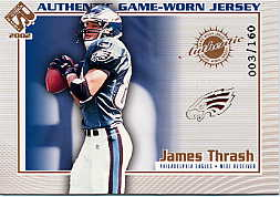 2002 Private Stock Game Worn Jerseys Logos #95 James Thrash/160