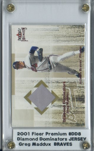 2001 Fleer Premium Diamond Dominators Game Jersey #DD8 Greg Maddux