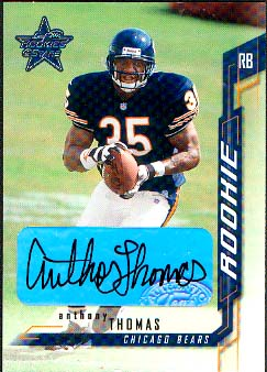 2001 Leaf Rookies and Stars Rookie Autographs #214 Anthony Thomas