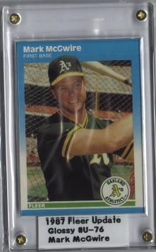 1987 Fleer Baseball Mark McGwire Update Set Glossy