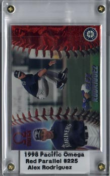 1998 Pacific Omega Baseball Alex Rodriguez Red Parallel Mint NICE!