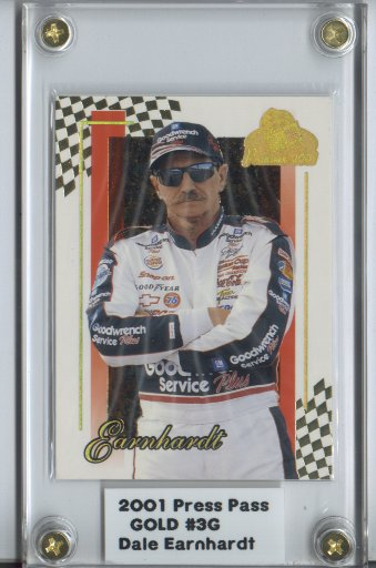 2001 Press Pass Premium Gold #3 Dale Earnhardt