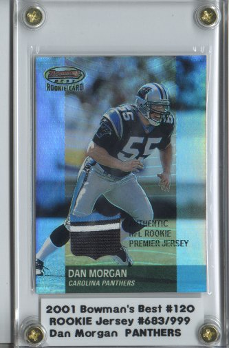 2001 Bowman's Best #120 Dan Morgan JSY RC