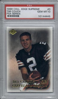 1999 Collector's Edge Supreme Football #3 Tim Couch  PSA Series ROOKIE PSA GEM MINT 10 BROWNS NICE!!