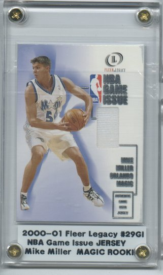 2000-01 Fleer Legacy NBA Game Issue #GI29 Mike Miller