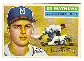 1956 Topps #107 Eddie Mathews