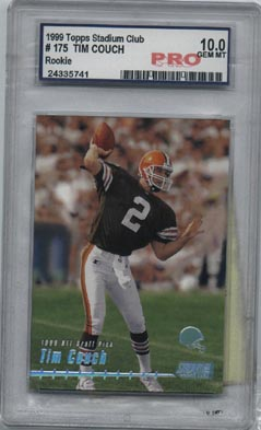 1999 Topps Stadium Club Football #175 Tim Couch ROOKIE PRO GEM MINT 10 Cleveland BROWNS AWESOME!