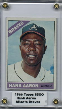 1966 Topps Baseball Hank Aaron NM