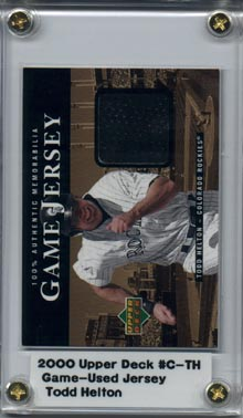 2000 Upper Deck #C-TH Todd Helton Game-Used Jersey Black!!