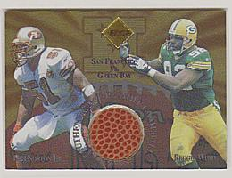 1997 Collector's Edge Masters Playoff Game Ball Gold Logo #16 R.White/K.Norton Jr.