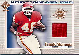 2002 Private Stock Game Worn Jerseys #56 Frank Moreau