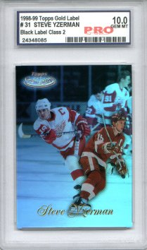 1998-99 Topps Gold Label Class 2 Black # 31 Steve Yzerman Graded Gem Mint 10