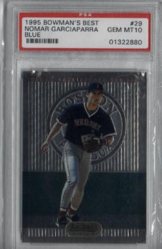 1995 Bowman's Best Baseball #29 Nomar Garciaparra Blue PSA Gem MINT 10