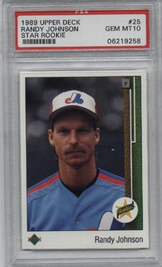 1989 Upper Deck Baseball #25 Randy Johnson Star Rookie Expos PSA GEM MINT 10