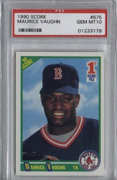 1990 Score Baseball #675 Mo Vaughn Rookie PSA Gem Mint 10