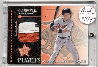 2001 Leaf Rookies and Stars Players Collection #PC8 Cal Ripken Glove