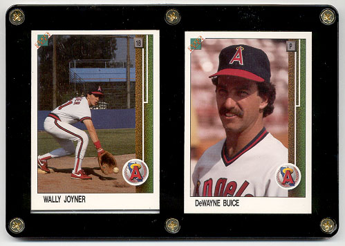 1989 Upper Deck 1st promo set - Wally Joyner/DeWayne Buice