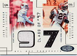2002 Hot Prospects Class Of Memorabilia #JPCD Jake Plummer/Corey Dillon