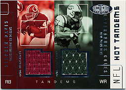 2002 Hot Prospects Hot Tandems Memorabilia #SDLC Stephen Davis/Laveranues Coles
