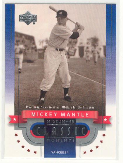 2001 Upper Deck Midsummer Classic Moments #CM3 Mickey Mantle 52