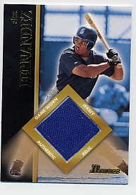 2002 Bowman Game Used Relics #BRAF Alex Fernandez Jsy C