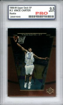 1998 SP Top Prospects #2 Vince Carter Graded Mint+ 9.5