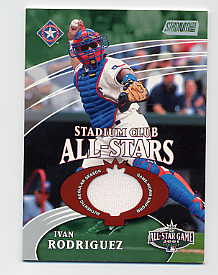 2002 Stadium Club All-Star Relics #SCASIR Ivan Rodriguez Uni G4