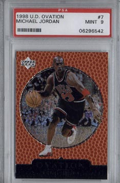 1998/99 Upper Deck Ovation Basketball #7 Michael Jordan PSA MINT 9 NICE!