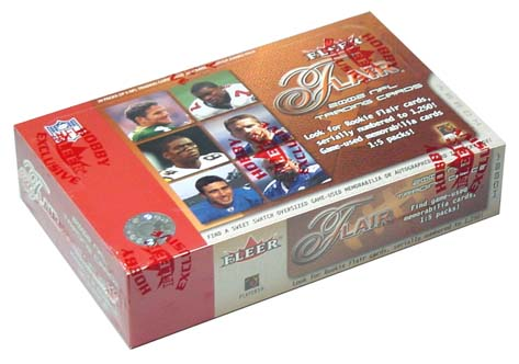 2002 Flair Football Hobby Box, Factory Sealed