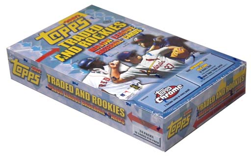 2002 Topps and Topps Chrome Traded & Rookies Baseball HOBBY Box (24 Packs/Box, 10 Cards/Pack, 2 Chrome Cards per Pack, Dontrelle Willis RC?) Factory Sealed *** In Stock ***