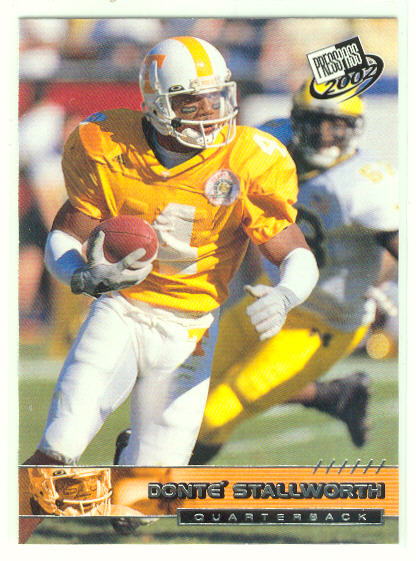 2002 Press Pass #29 Donte Stallworth